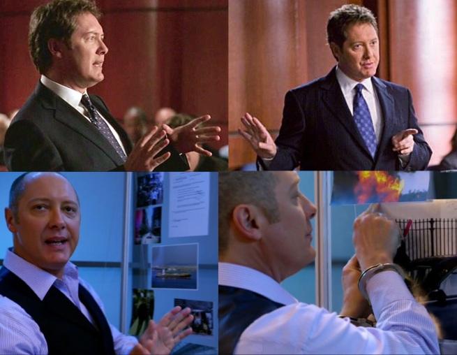 Alan Shore and Red Reddington explaining.