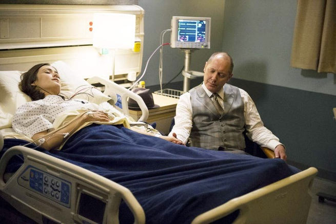 Megan Boone and James Spader, The Blacklist (2:5 The Front)