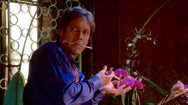 James Spader and orchids in Secretary