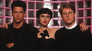 Bad Influence, directed by Curtis Hanson (1990). James Spader, Lisa Zane an,d Rob Lowe.