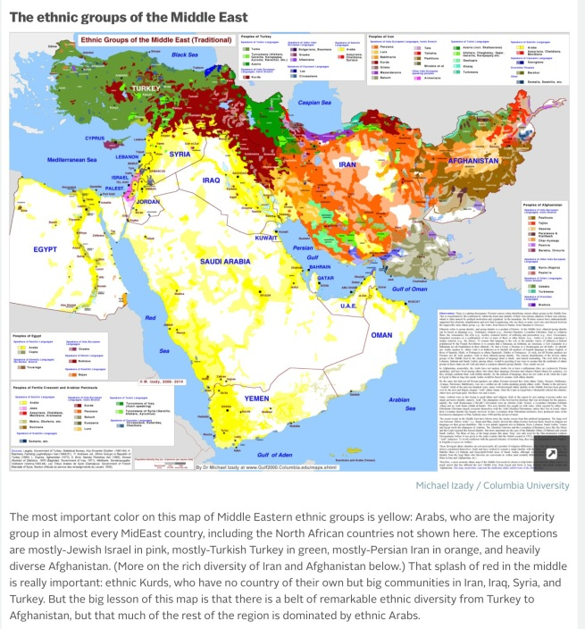 Ethnic diversity of Middle East. Source: Vox. http://bit.ly/1mf5ymr