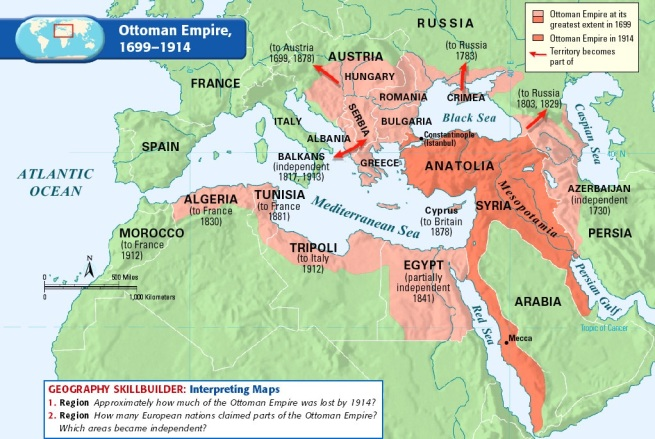Extent of the Ottoman Empire 1699-1914. Source: http://bit.ly/1I6tDVo