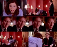 Maggie Gyllenhaal and James Spader in Secretary.