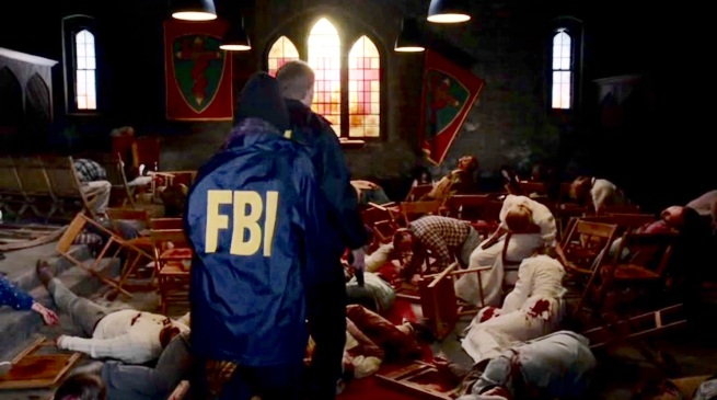 FBI discovers massacre at the Kenyon Compound.