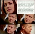 Liz will help the daughter of the man Tom killed. Red reflects.