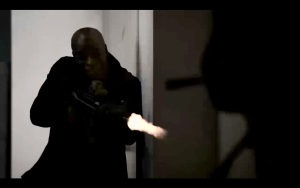 Dembe during safe house attack.