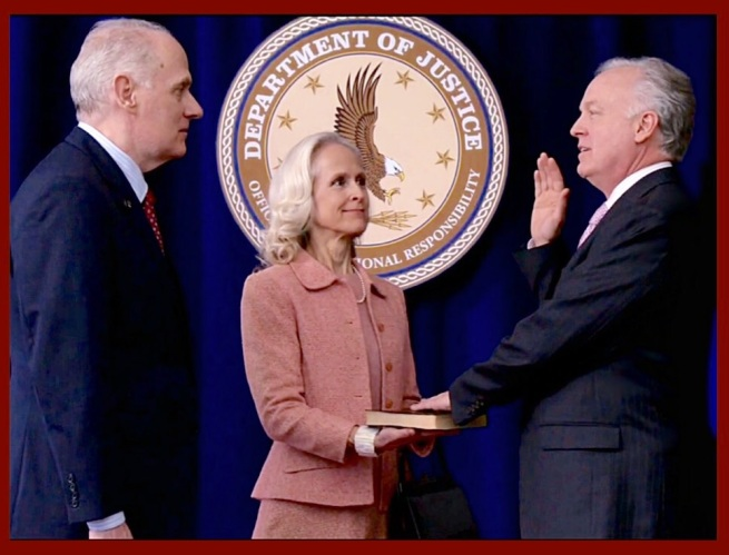 A traitor is sworn in as U.S. Attorney General.