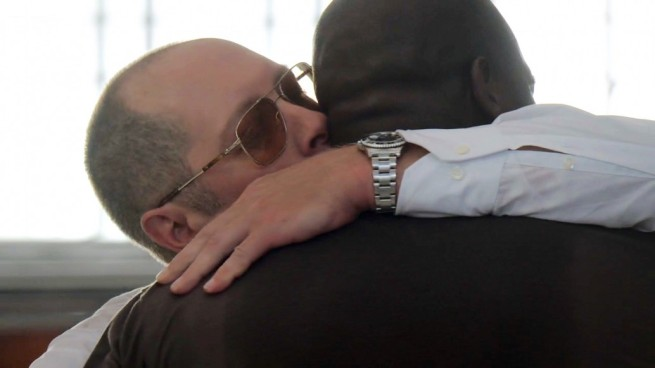 James Spader and Hisham Tawfiq in The Blacklist