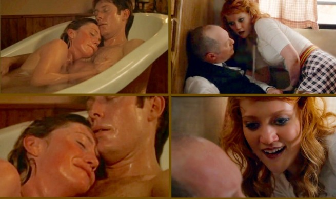 Comparing the tea party scene in [3:8] Kings of the Highway with the bath scene in The Stickup