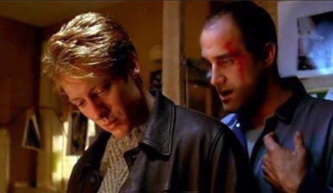 James Spader and Elias Koteas n Crash