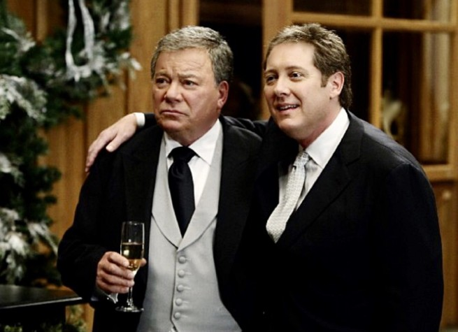 Denny & Alan get married. William Shatner & James Spader in Boston Legal