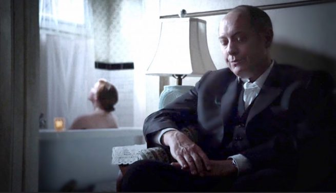 Lotte Verbeek and James Spader in The Blacklist [3:19 Cape May]