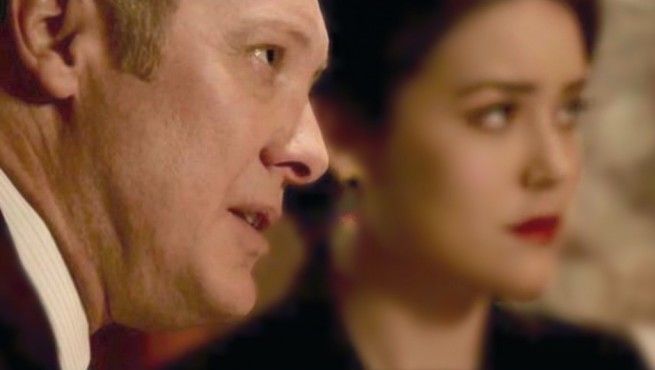 "Red describes negotiation as a tango: ""a sensuous battle… a seduction."" James Spader and Megan Boone in The Blacklist"