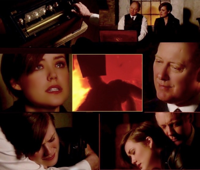 Megan Boone and James Spader in The Blacklist (1:17 Ivan)