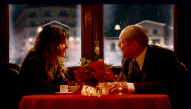 Stephanie Szostak and James Spader in The Blacklist [3:13 Alistair Pitt]