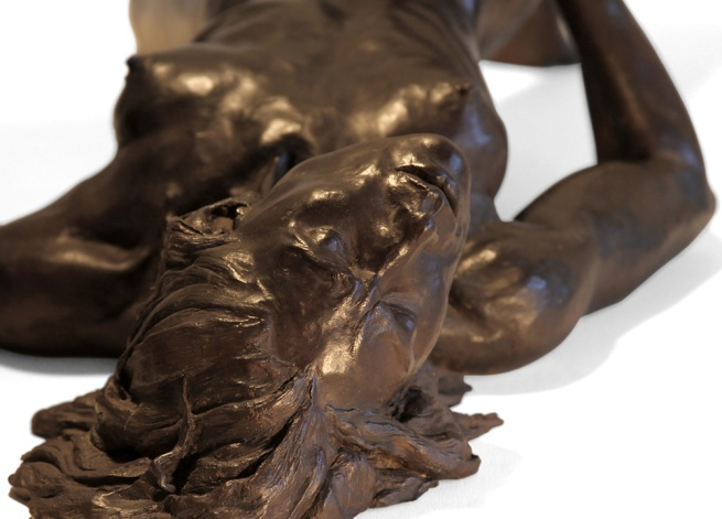"Bronze ""Myself alone"" by Leslie Stefanson"