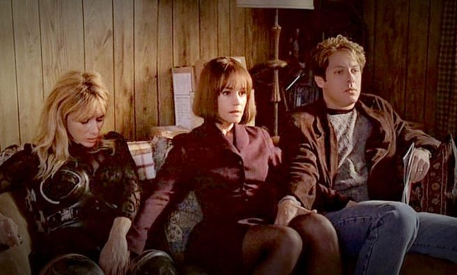 Rosanna Arquette, Holly Hunter and James Spader in Crash