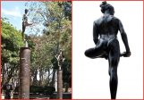 """""""Look at the beautiful curve of her back, right at the base of her spine,"""" he said, noticing a dancer at the top of Robert Graham's """"Dance Columns."""" """"It's the most perfect curve in nature."""" – James Spader. See See LATimes 2004 interview http://lat.ms/1wxRA3k"""